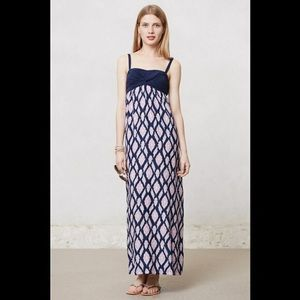 Anthropologie Lilka Maxi Dress Ikat Small 💜💙